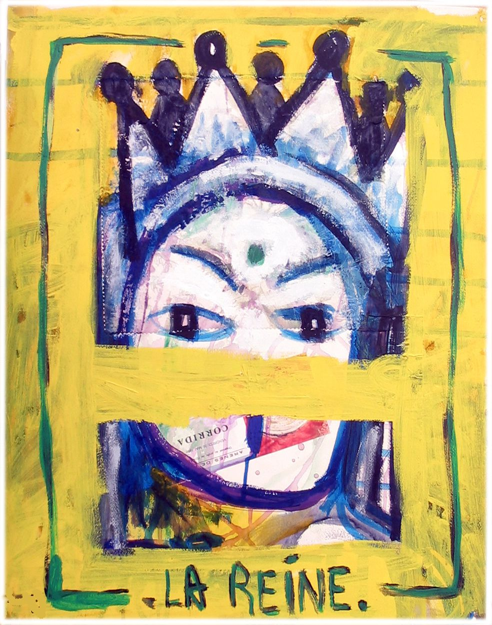 14 - LA REINE -Technique mixte - 65 x 50 cm.