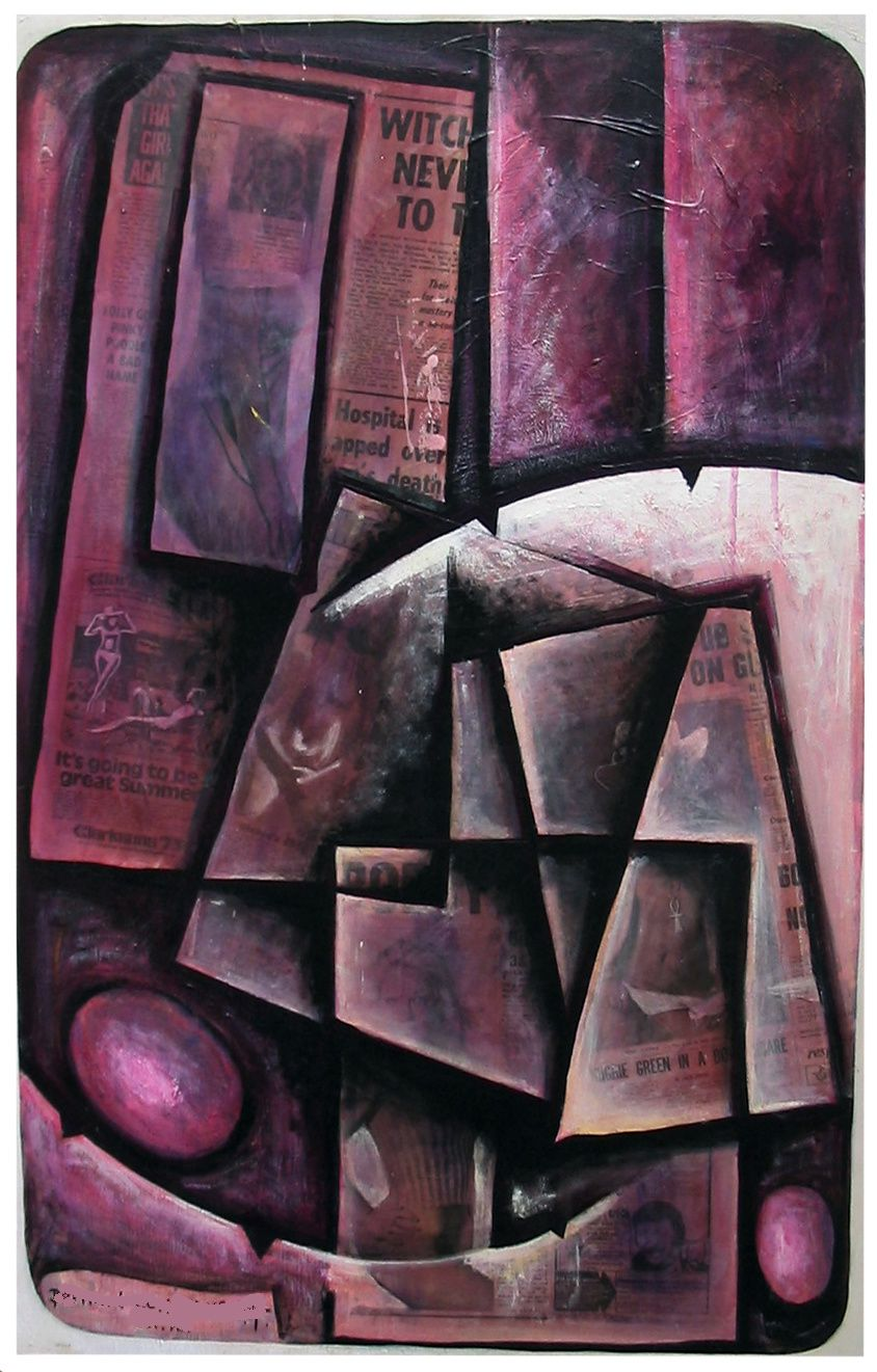 14  -Technique mixte -100 x 65 cm.