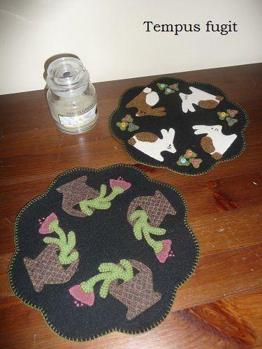 Folk art penny mats