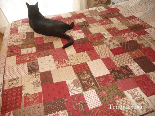 Double slice layer cake quilt