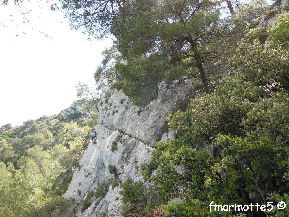 Via Ferrata des Gorges du Gardon. Collias.