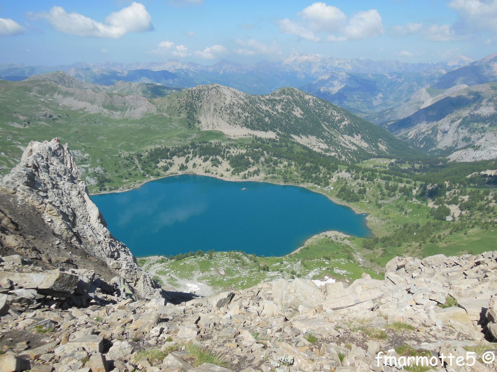 Le lac d'Allos, Mercantour.
