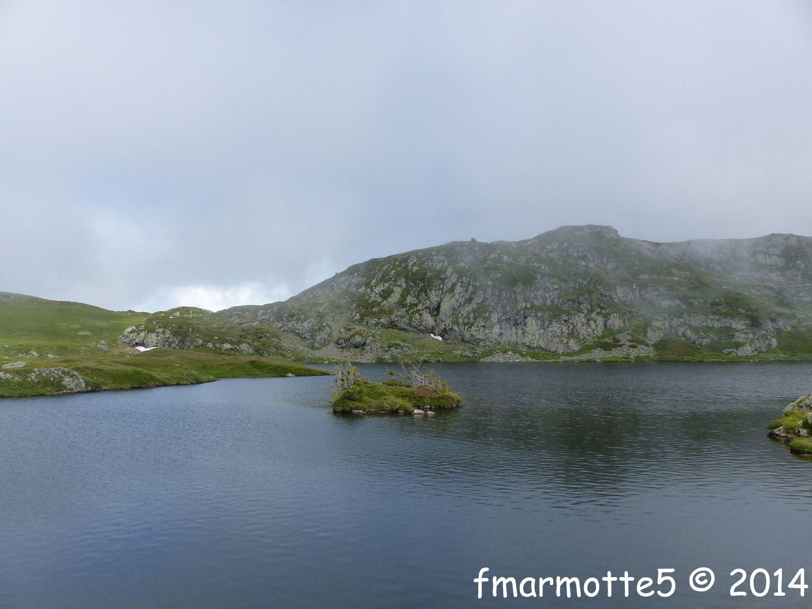 Lac Fourchu depuis le Poursollet, refuge du Taillefer. Partie I