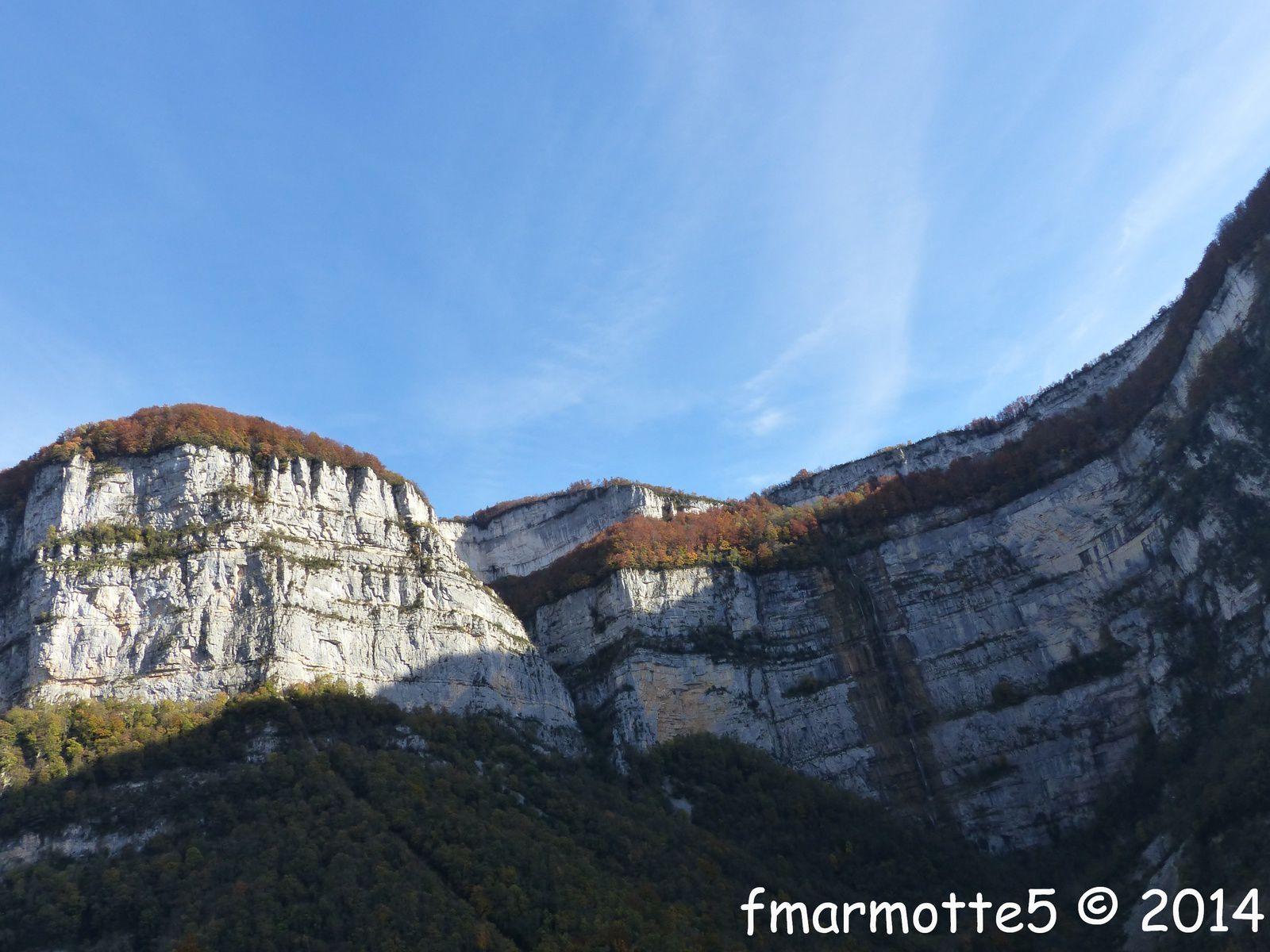 Le cirque du Bournillon depuis l'esplanade des Grottes de Choranche.