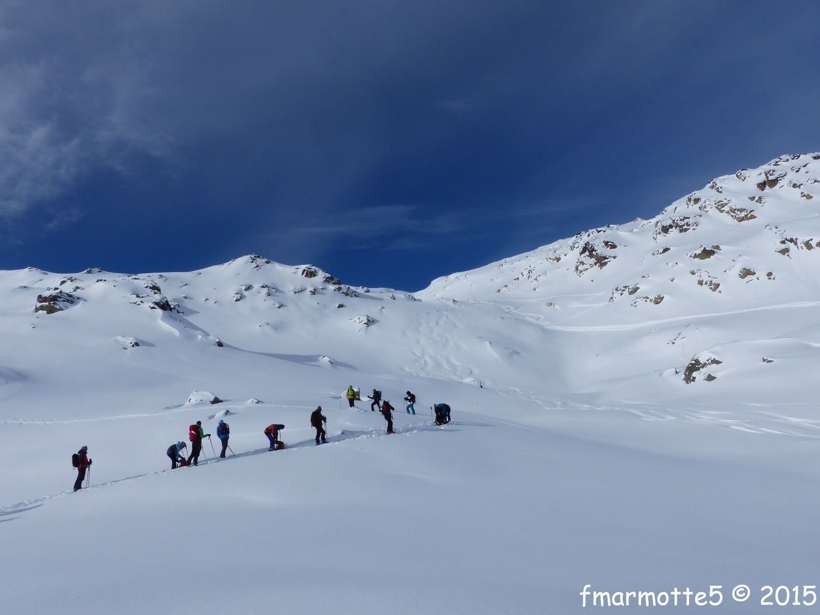 Le Grand Mont 2687 m. en ski de rando.