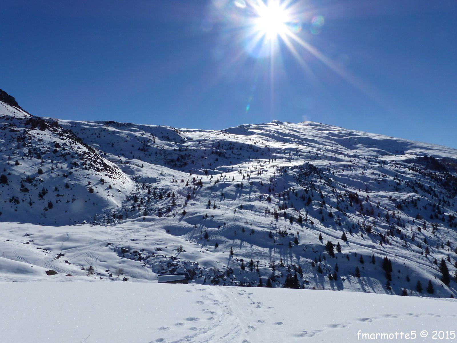 Le Verdet 2294 m. par le Dos de Crêt Voland.Ski de rando.
