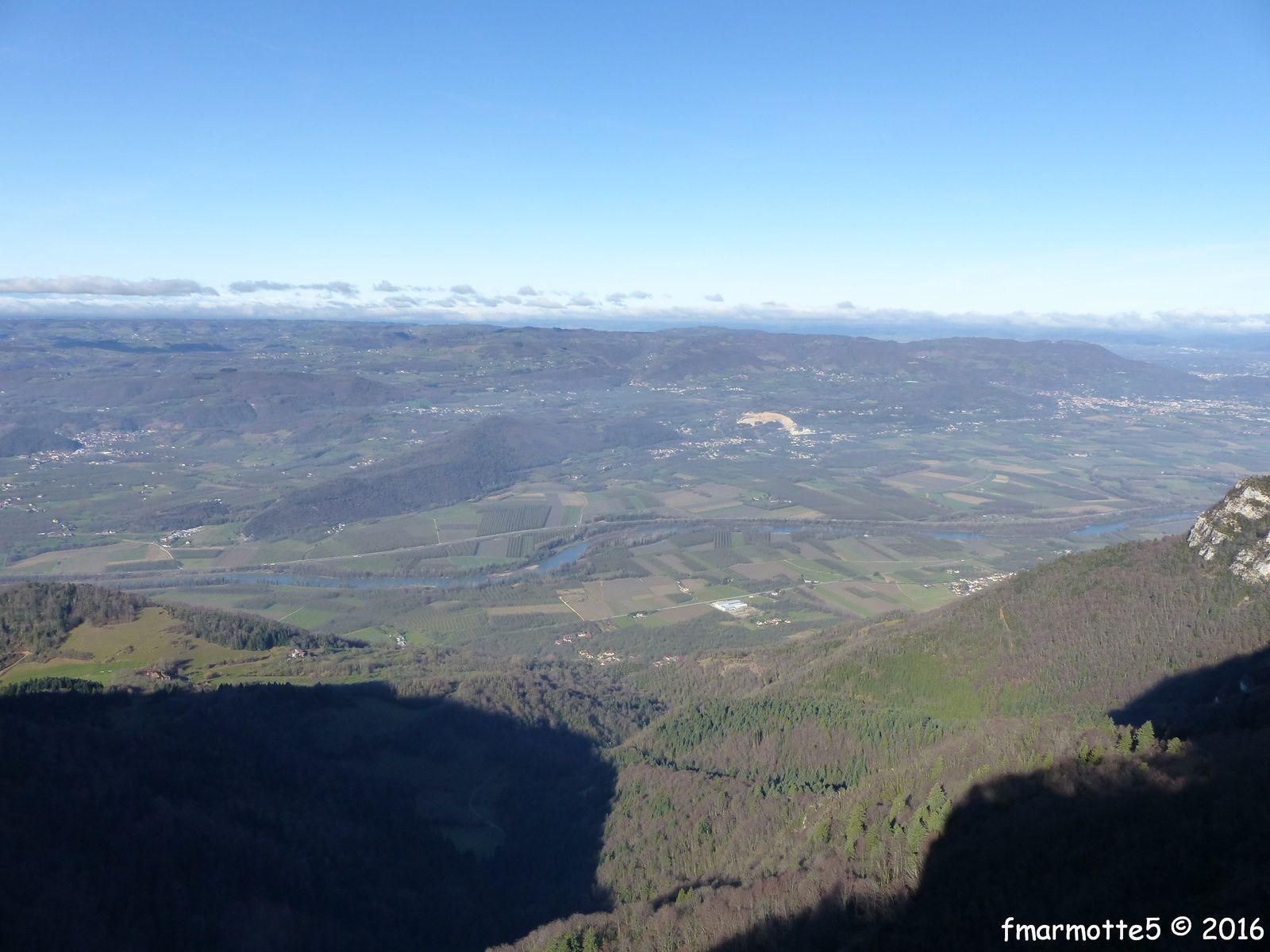 La vallée de l'Isère depuis le Belvédère du Rivet