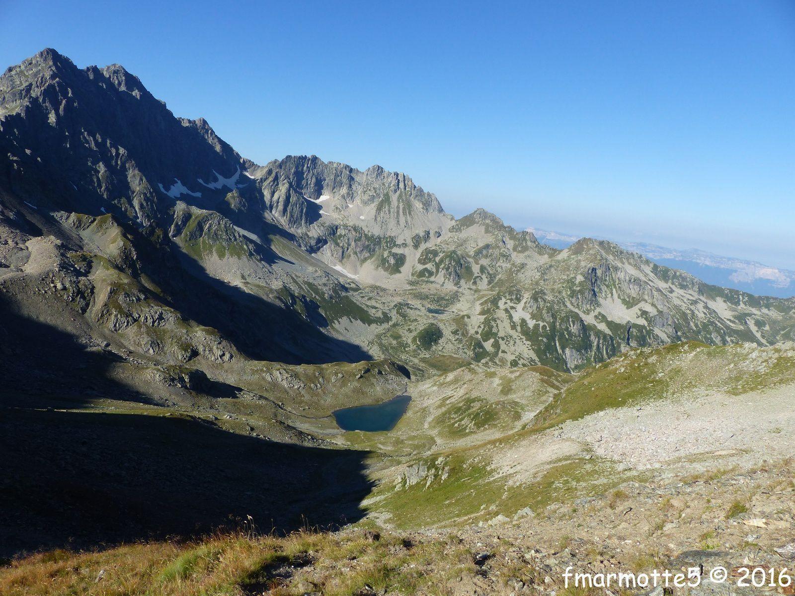 Pic Sud du Merlet 2469 m. Belledonne Nord.