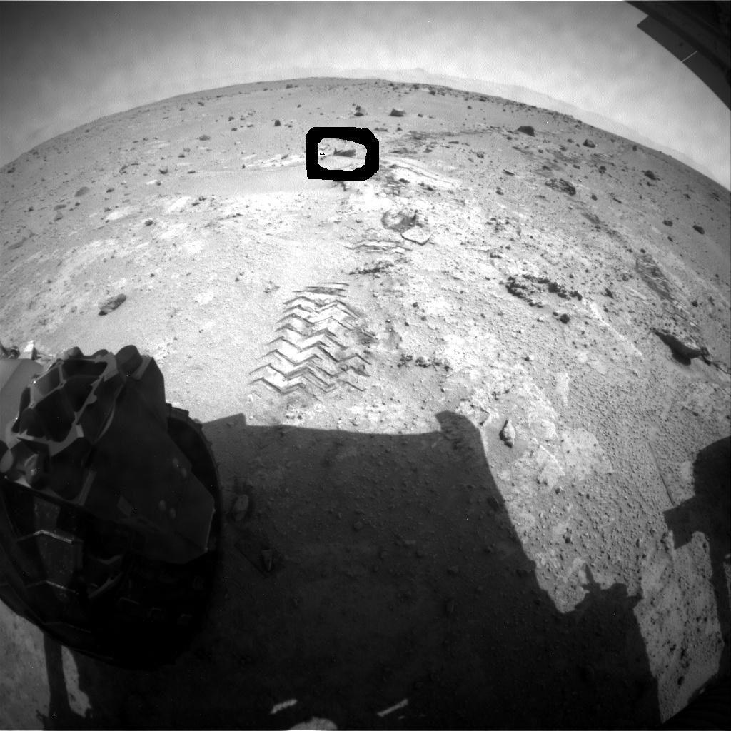 Curiosity a photographié sur Mars cette curieuse chose  en forme de sirène le 11 septembre 2013