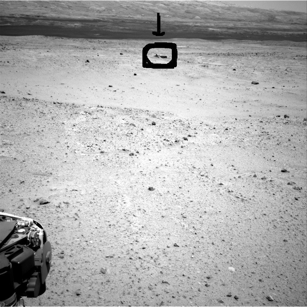 Curiosity a photographié sur Mars cette curieuse structure le 30 août 2013