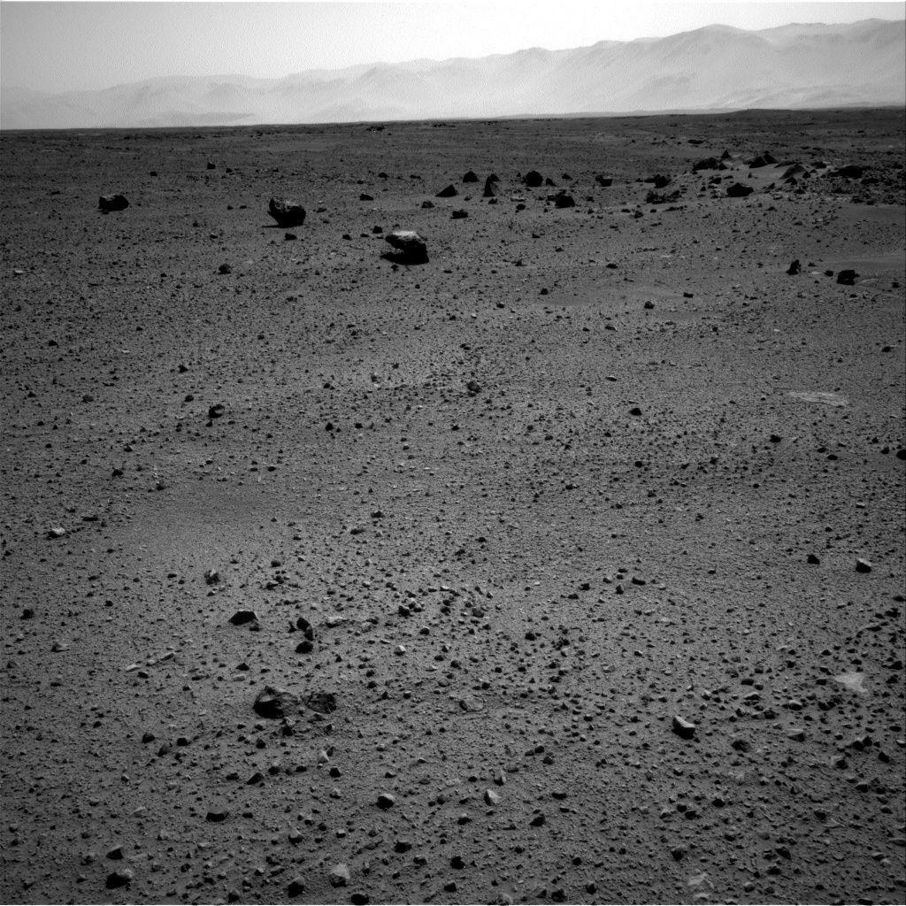 Curiosity a pris en photo ces curieuses ombres sur Mars le 4 octobre 2013