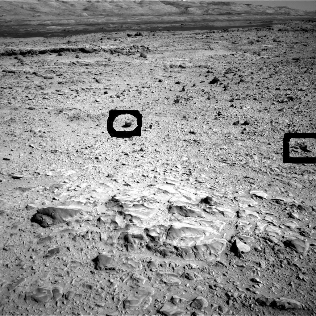 Curiosity a photographié ces étranges formes sur Mars le 2 décembre 2013