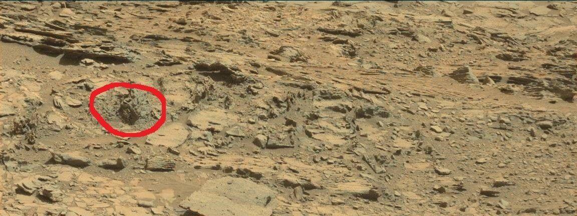 J'ai entouré en rouge le rocher insolite