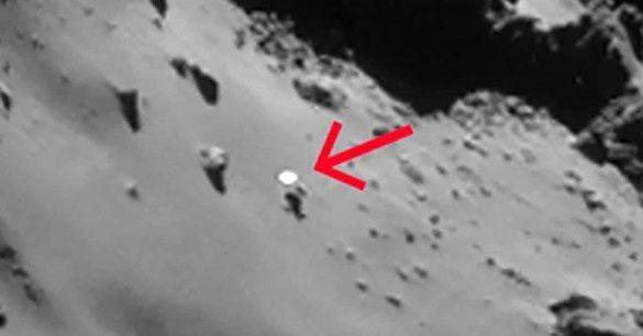 Photo ovni sur la Comète 67 P
