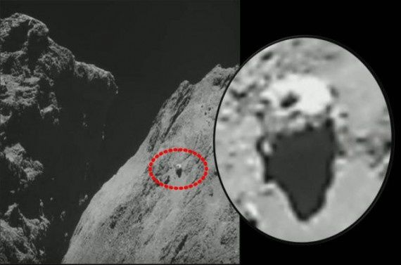 Photo ovni sur la Comète 67 P