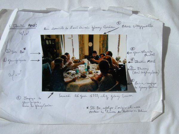 Photo : ma journée mémorable chez Jimmy et Lucia Guieu le 26 juin 1999. On ne voit pas Jimmy, car gravement malade et fatigué, Jimmy était resté allongé sur la banquette, à côté de nous...