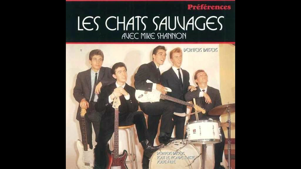 "Photo : Mike Shannon et son groupe ""Les Chats Sauvages"", son gros tube ""Derniers Baisers""."