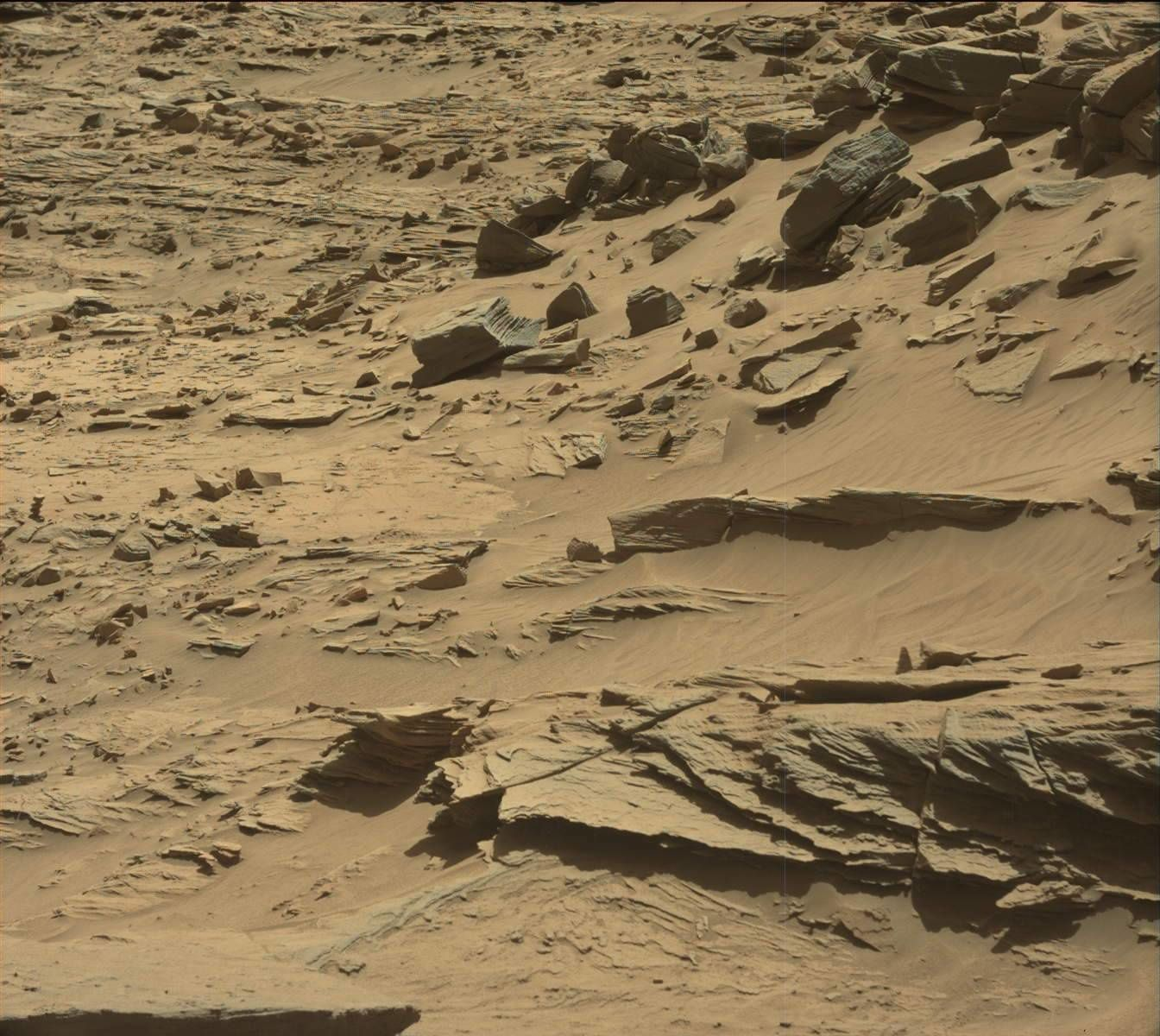 Photo originale. Crédit photo NASA. Curiosity SOL 1292. Le 25 mars 2016.