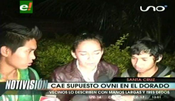 Autre image extraite de la vidéo : ovni et alien à Santa Cruz, en Argentine...