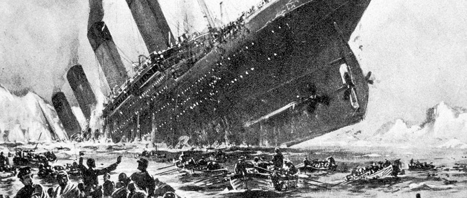 Illustration : dramatique naufrage du Titanic...