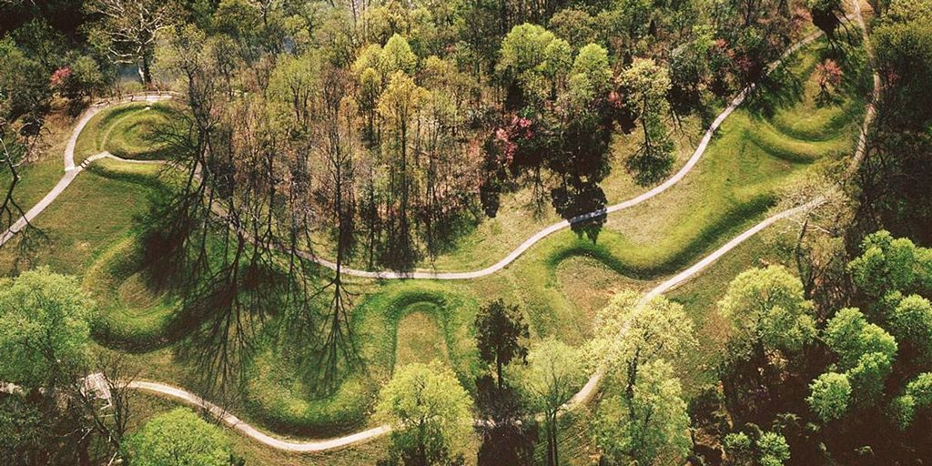 Photo : une vue de Serpent Mound, dans l'Ohio...
