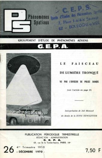 """Image : la revue """"Phénomènes Spatiaux"""" N° 26, 4ème trim. 1970, éditée par le GEPA..."""