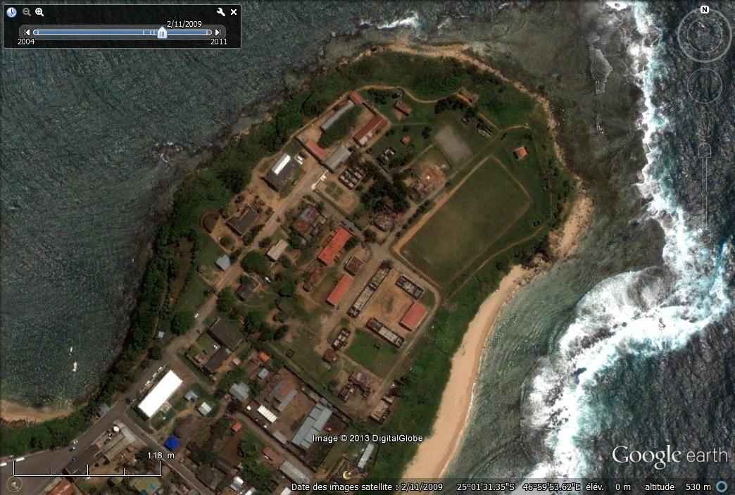 Fort-Flacourt, le centre historique de Tolagnaro - image Google earth, 2009