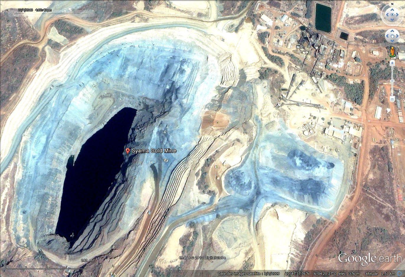 La mine, Google earth 2009
