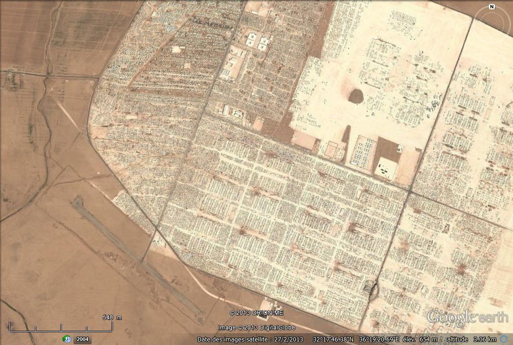 Images extraites de Google earth : 2013, 2011, 2013 (détail), 2013 (détail)
