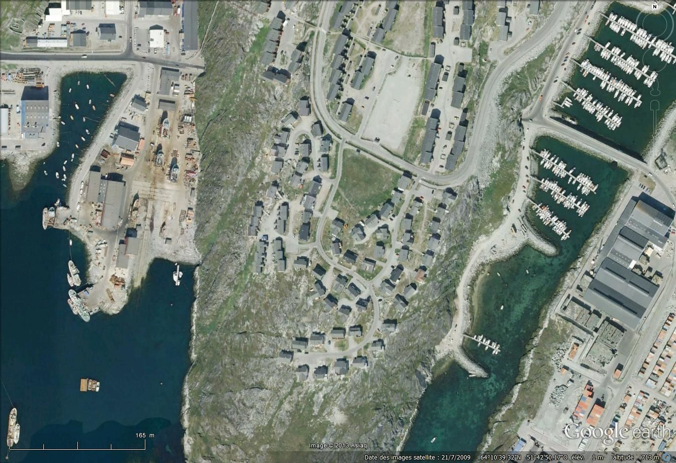 Nuuk (imagerie satellitaire Google earth)