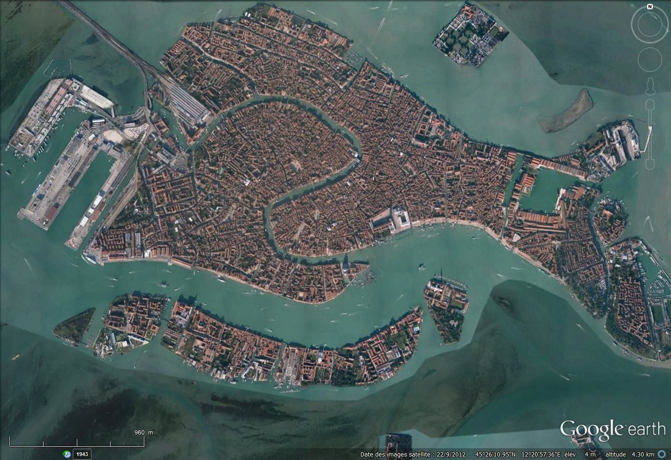 Venise sur Google earth