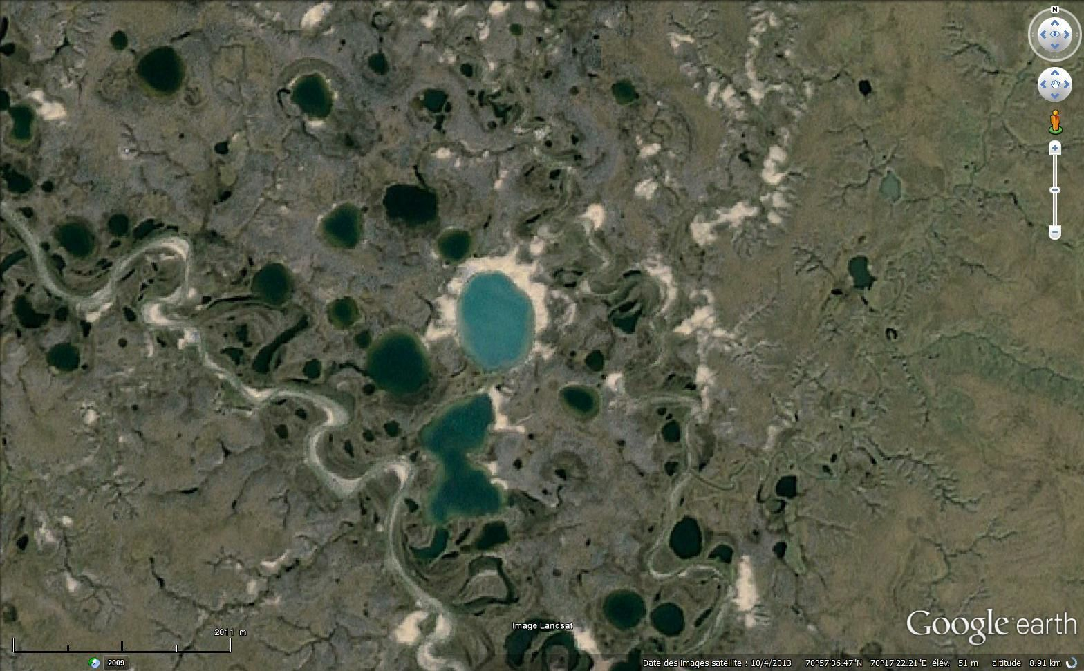 La péninsule de Yamal sur Google earth