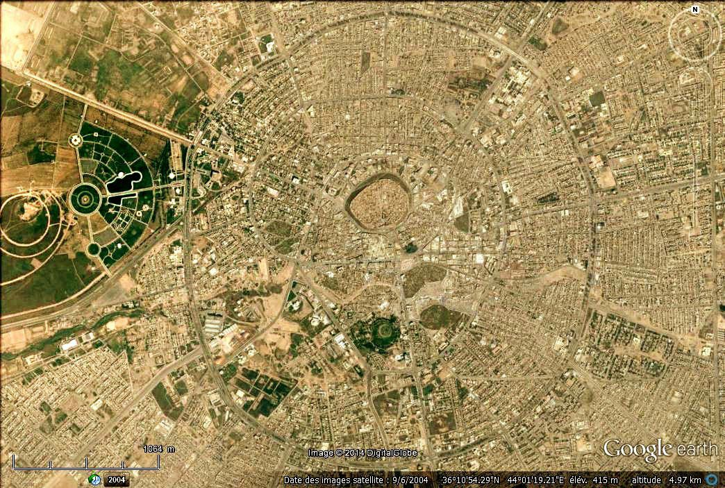 Erbil (Google earth, 2004)