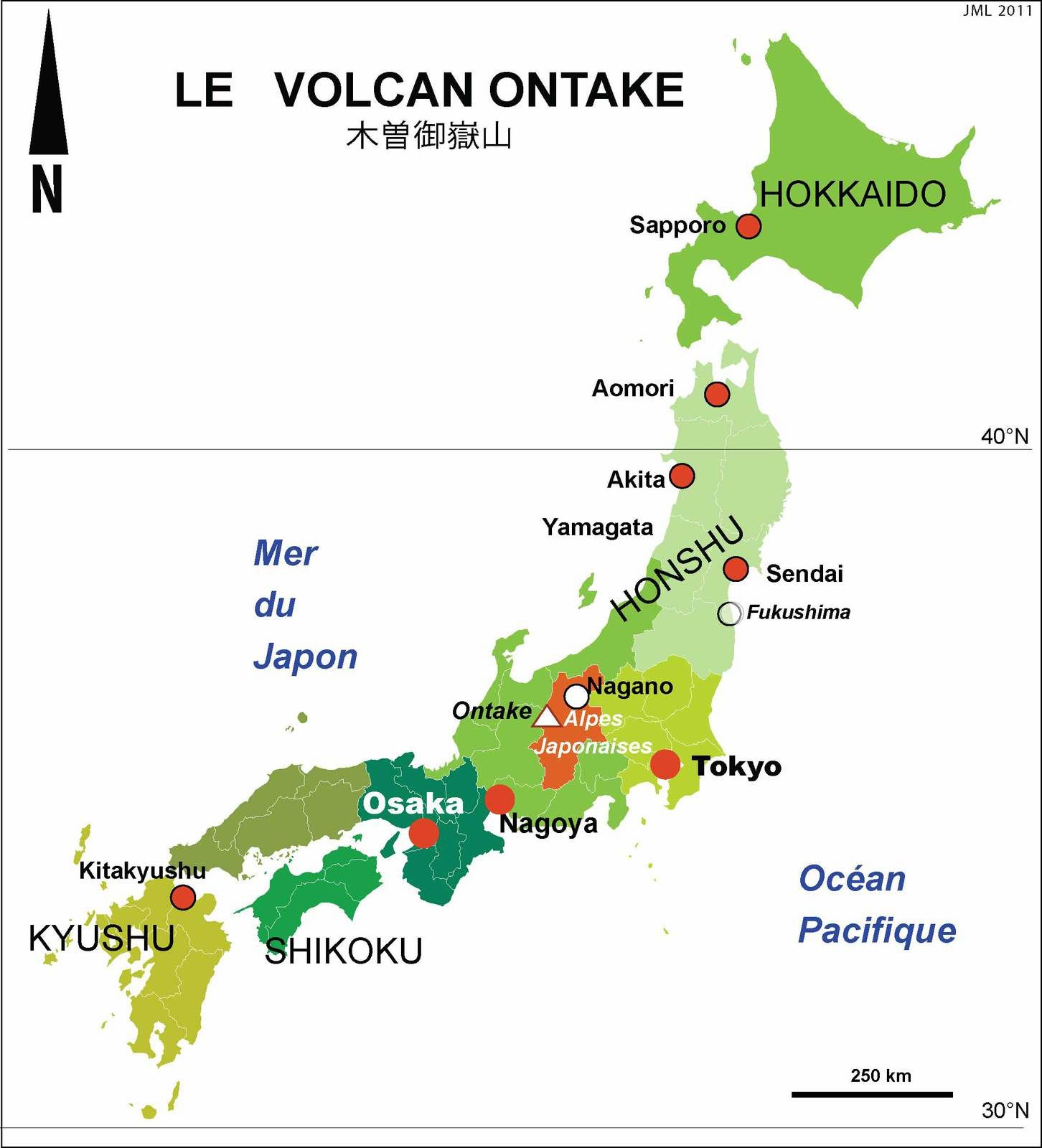 Le volcan Ontake