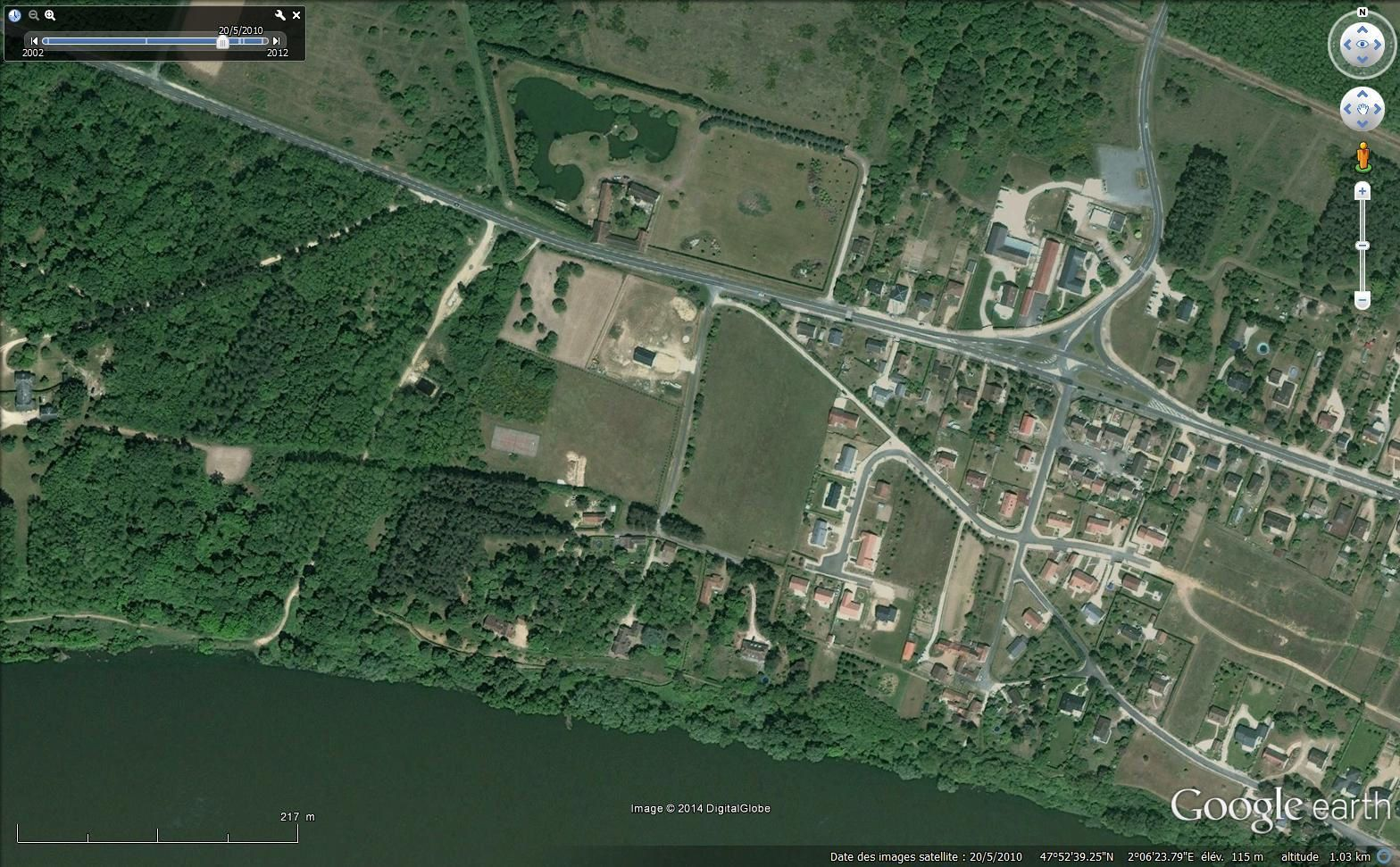 Les Vernelles (Google earth)