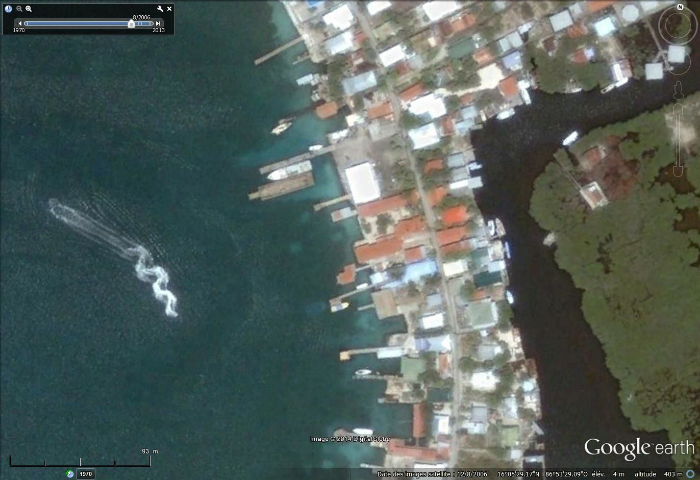 via Google earth