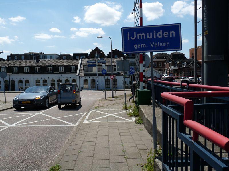 Paysages portuaires : dans le port d'Ijmuiden en Hollande