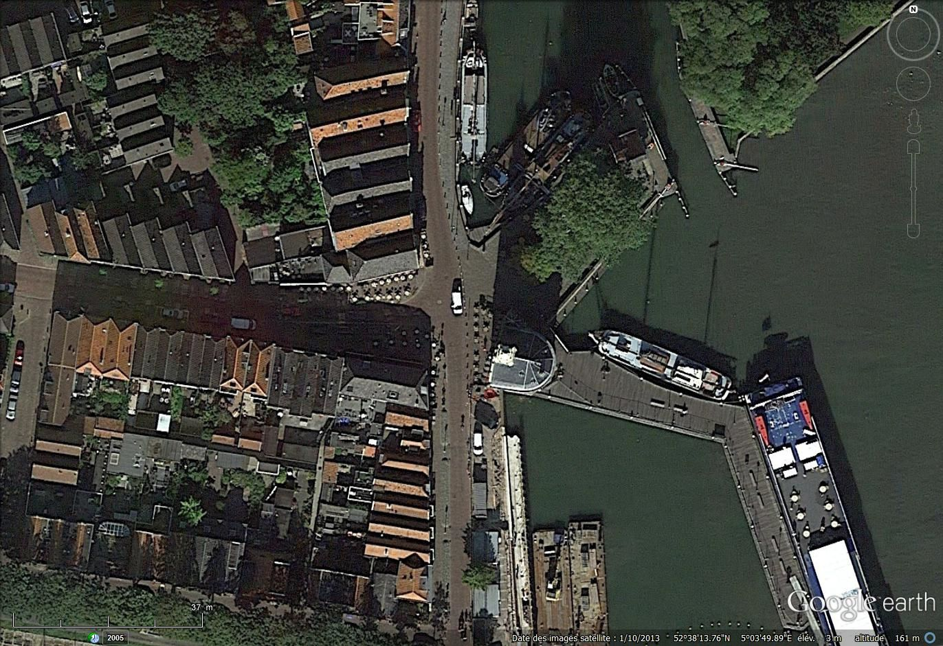 Hoorn sous l'oeil de Google earth