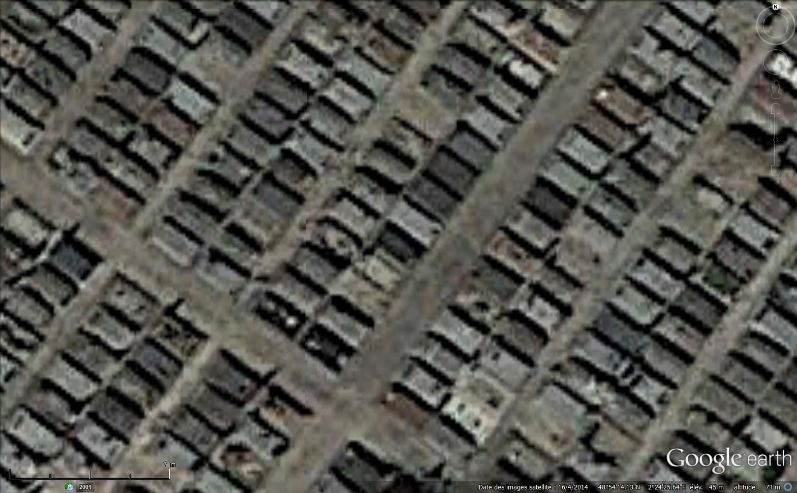 Images satellitaires Landsat mises à disposition par Google earth