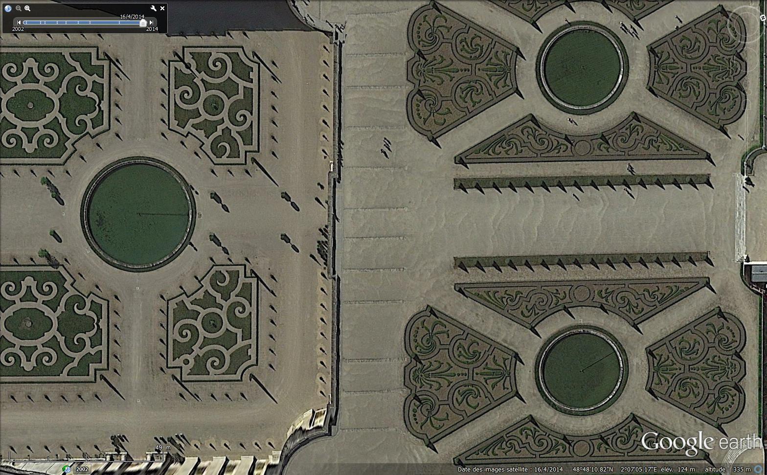 Jardins à la française en vue satellitaire 4 - Versailles