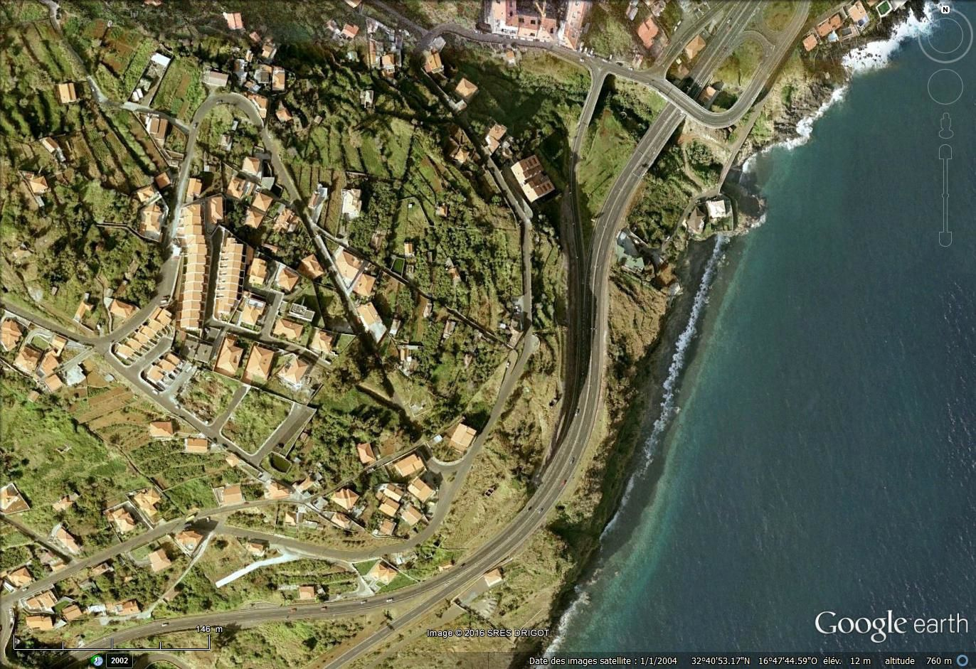 Madère via via Google earth