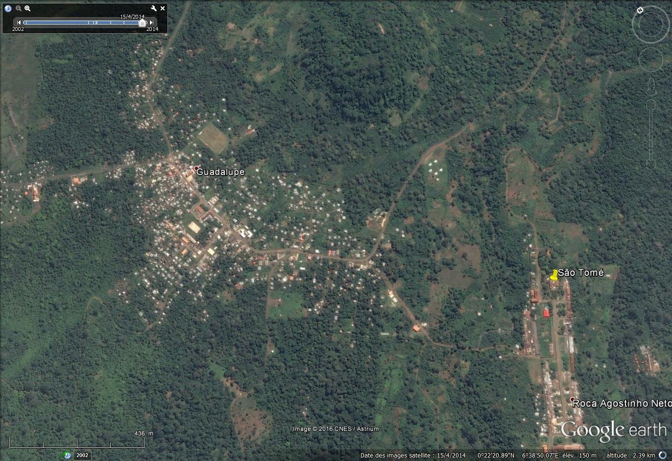 Imagessatellitaires de 2014 (CNES - Astrum via Google earth)   Voir la belle colline circulaire en haut de la première image