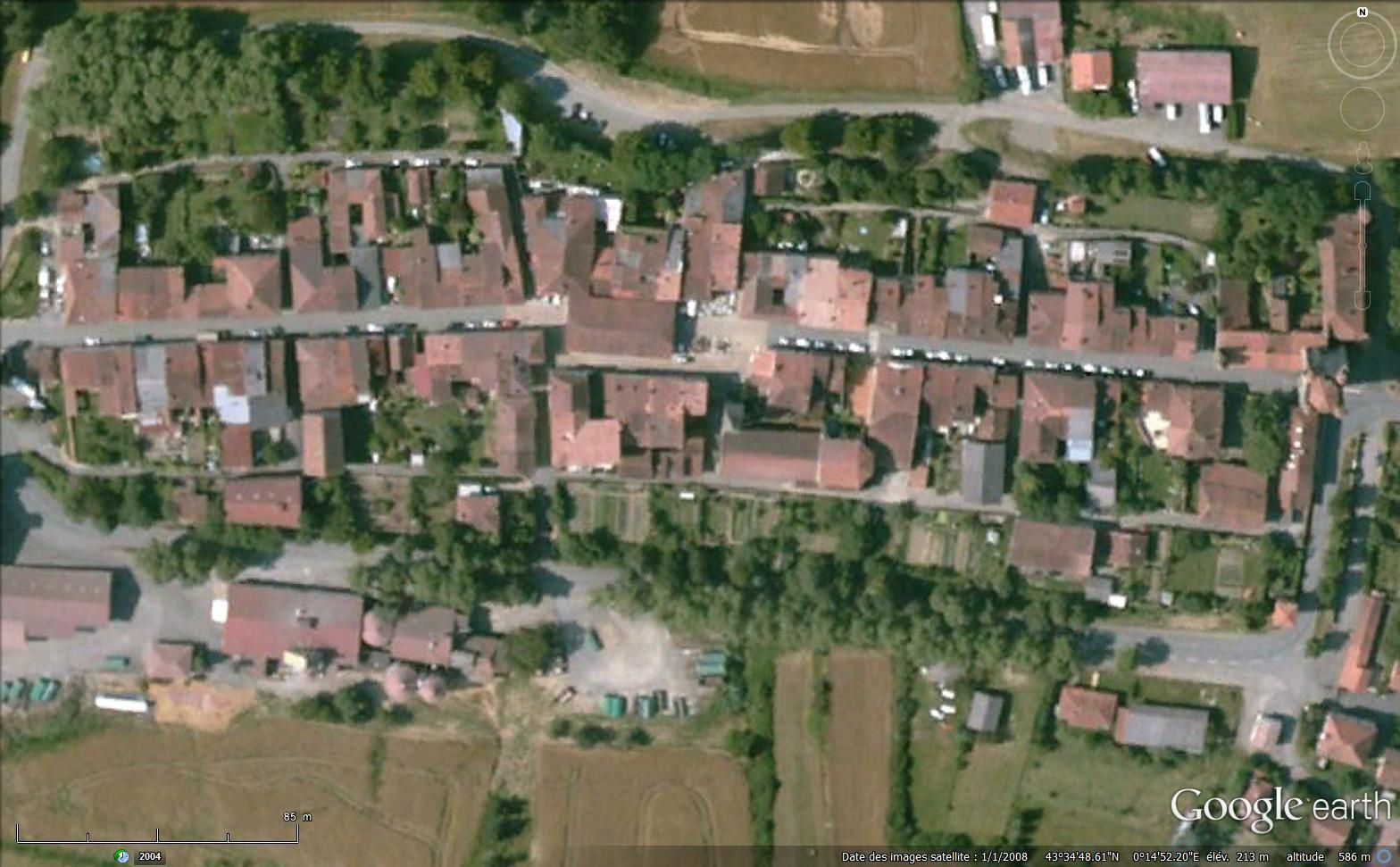 Bassoues sur Google earth