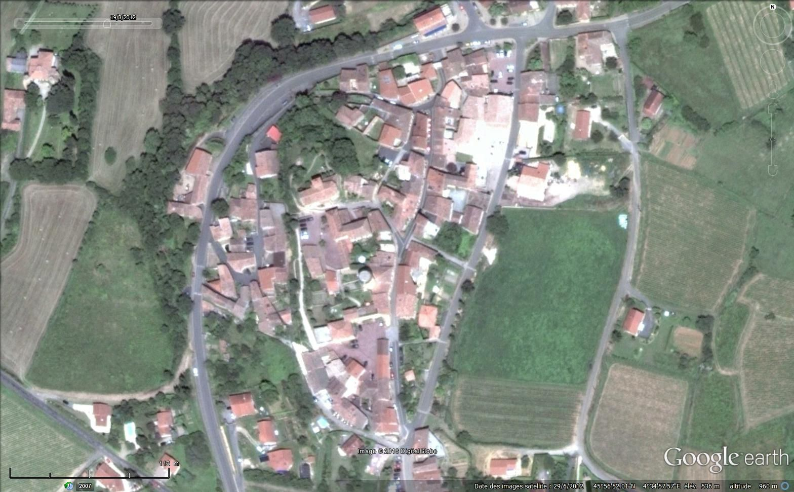 Vue satellitaire via Google earth