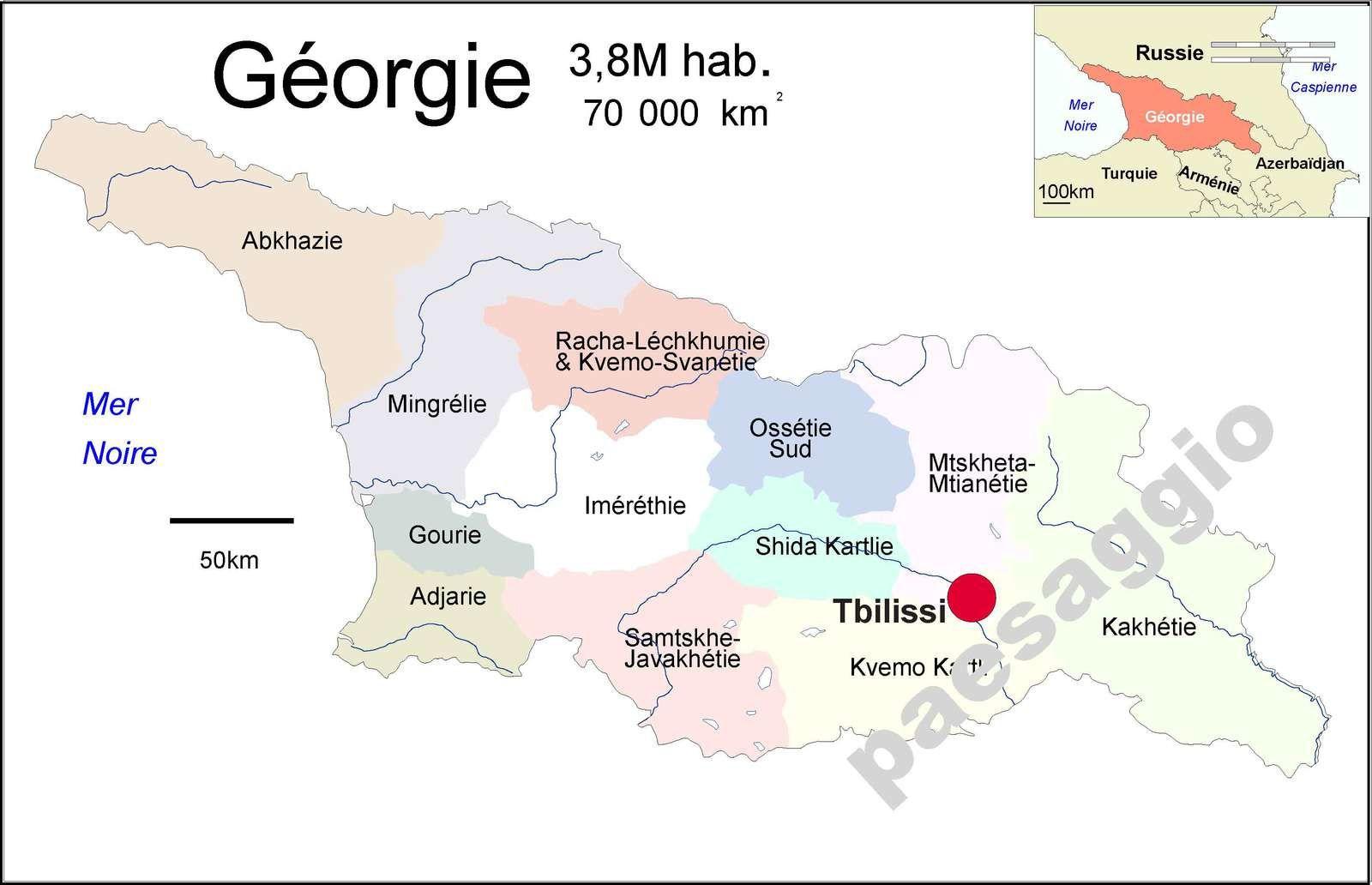 La Géorgie est un pays du Caucase  qui a résisté à toutes les grandes invasions