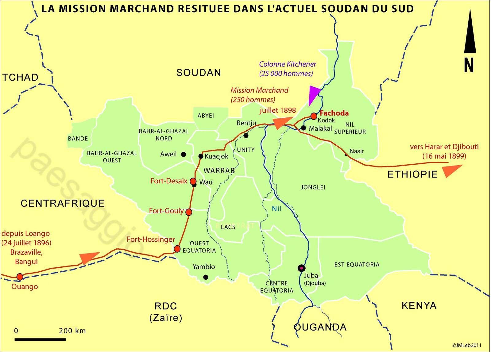 Sud-Soudan : à Kodok le souvenir de Fachoda et de la mission Marchand