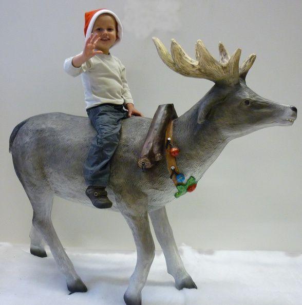 Décors de Noël chez NLC DECO : les rennes du Père Noël