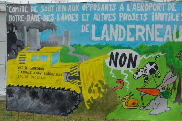 Notre Dame des Landes, chaîne humaine contre l'aéroport, suite de notre reportage exclusif