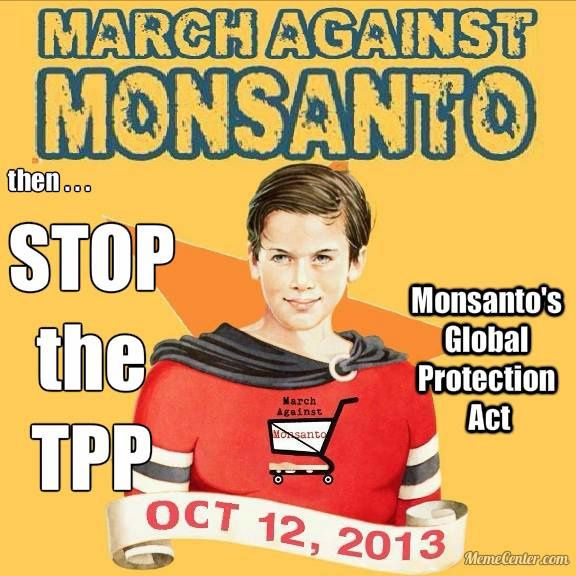 March Against Monsanto : everywhere, saturday oct. 12