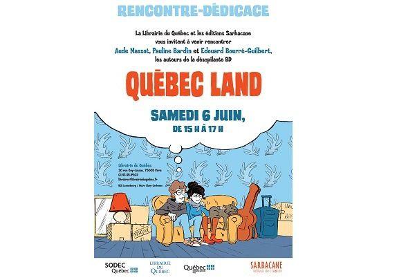 Rendez-vous dédicaces à la Librairie du Québec (à Paris)